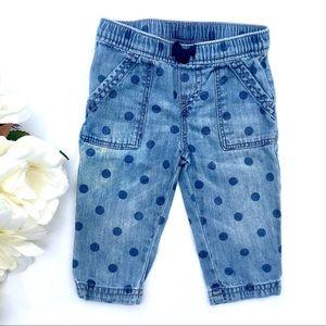 6M Denim Polka Dot Pants